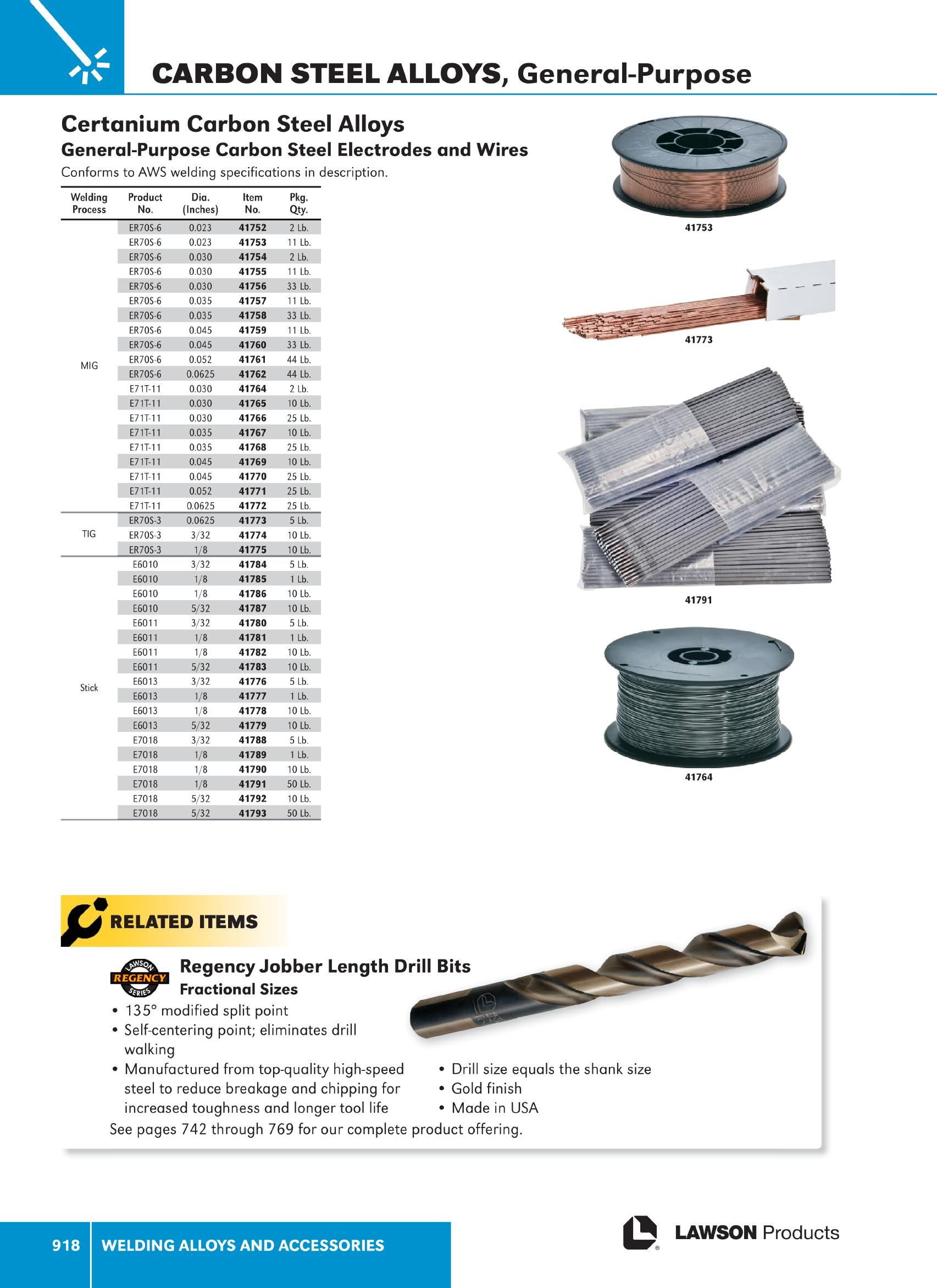 Welding Alloys and Accessories - Lawson Products Catalog CA 2015 ...
