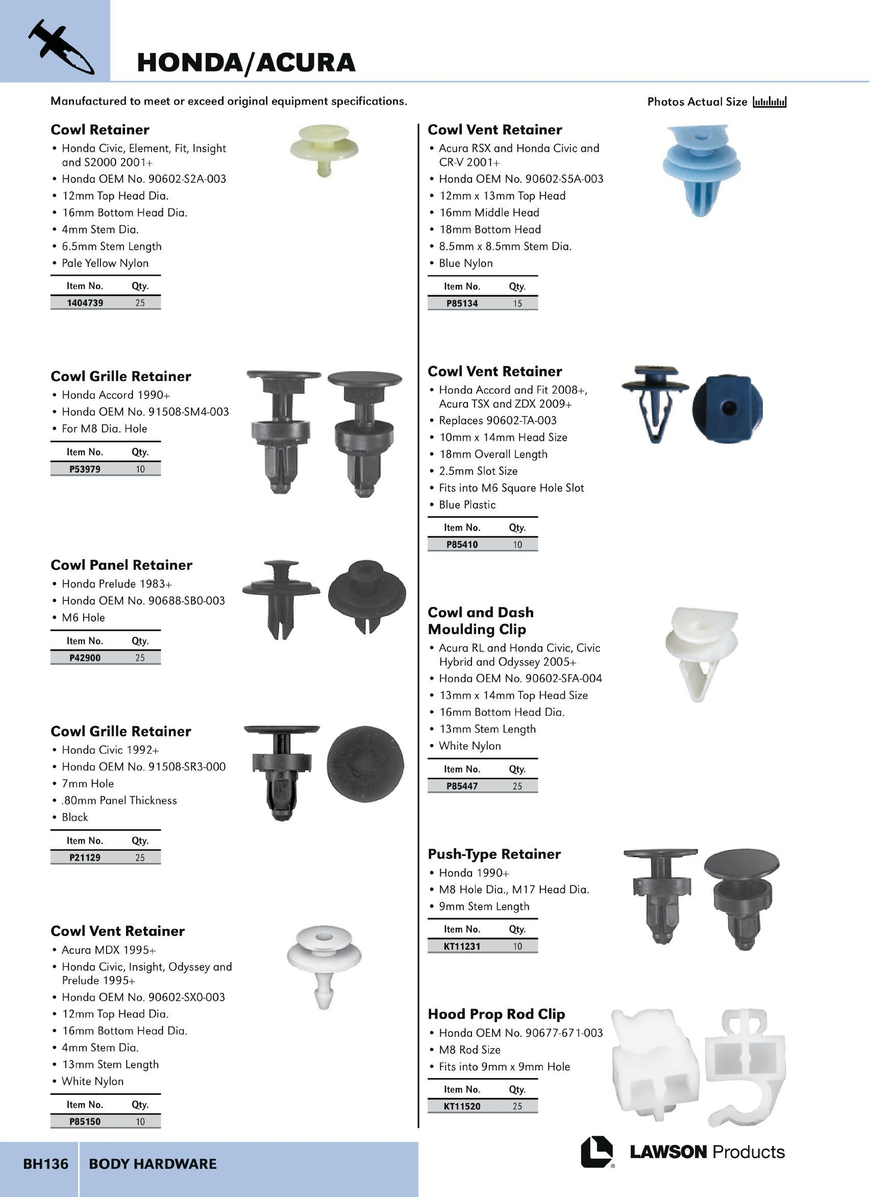 Body Hardware - Lawson Products Catalog CA 2015 Page BH136